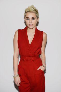 Miley Cyrus at Rachel Zoe Fashion Show, 2013 - Rockin' the short cut, Miley!! :D