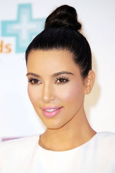 Kim Kardashian Wedding Hair Ideas - Wedding Hair Ideas - Top knot - Harper's BAZAAR