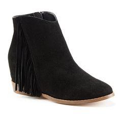 Mudd® Women's Fringe Hidden Wedge Ankle Boots #Kohls | Let's Get ...