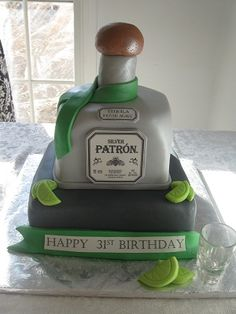 Patron Birthday Cake