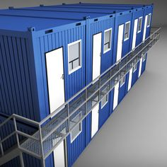 Buy Container shipping House double floor by on Medium detailed model of container shipping House double floor. Shipping Container Conversions, Shipping Container Home Designs, Container House Design, Shipping Container Workshop, Building A Container Home, Container Buildings, Container Van, Cargo Container, Casas Containers
