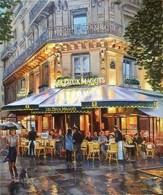 """""""Cafe Les Deux Magots, Paris"""" by Christopher Stone"""
