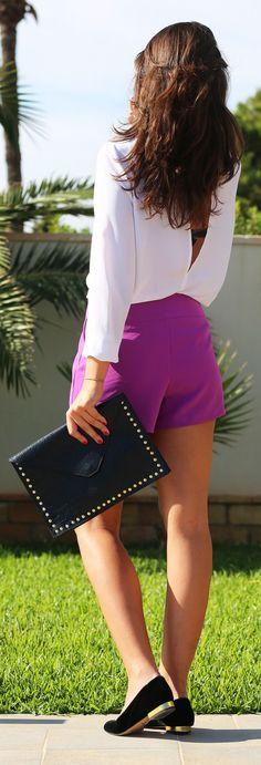 Purple Taylor Skort