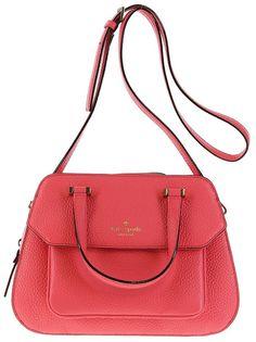 Kate Spade Boxwood Rd. Small Aubrey Satchel Shoulder Tote Leather Flamingo Pink #katespade #Satchel