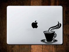 Coffee Mug Macbook Decal MacBook Decal,Vinyl,Car Decal, Window Decal, ipad decal, laptop decal by NebraskaVinyl on Etsy