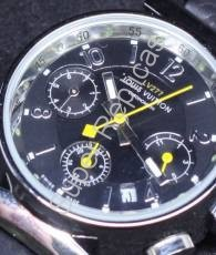 Louis Vuitton SS Case, Silver Arabic Numerals and Bar Hour Markers on Black Chronograph Dial with Leather Ladies  Model #: 6LOV028  Gender #: Ladies      $205.00