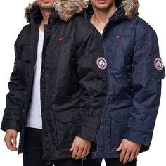 Geographical Norway Mantel Herren Jacke Parka Winterjacke Winter Bomberjacke Fit | eBay