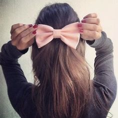 Light Peach Pink BIG hair bow by colordrop on Etsy from colordrop on Etsy. Saved to hair. Big Hair Bows, Bow Hair Clips, Hair Flip, Hair Ribbons, Diy Hairstyles, Pretty Hairstyles, Amazing Hairstyles, Hairstyle Tutorials, Beige Hair