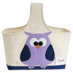 3 Sprouts Fabric Storage Caddy - Owl