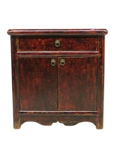 Stationery Chest 2 Door 1 Drawer Red