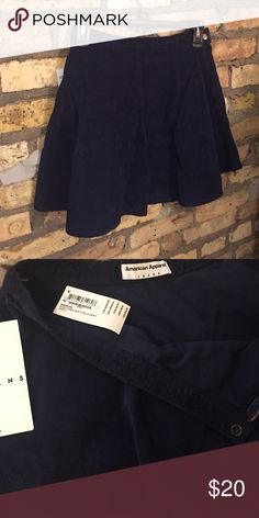 American Apparel corduroy circle skirt Perfect condition. Dark blue corduroy color. American Apparel Skirts Circle & Skater