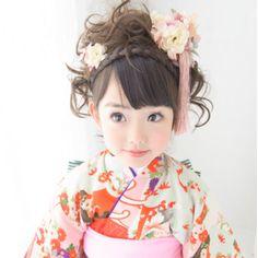 little cute kimono girl for 七五三(753: Japanese celebration)