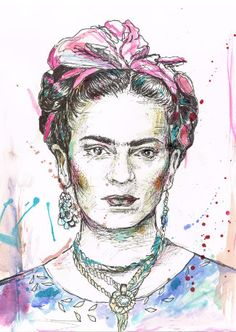 Frida Kahlo- I paint my own reality... by Inna Bird on Etsy