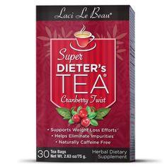 Laci Le Beau Super Dieter's Tea Cranberry Twist - 30 Tea Bags
