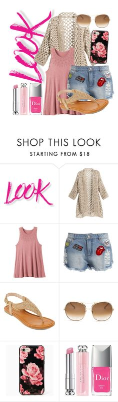 """""""Say HI to summer👋"""" by kinantptr on Polyvore featuring NYX, RVCA, Sans Souci, Arizona, Chloé, Kate Spade and Christian Dior"""