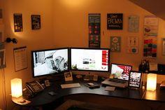 office setup   Home Office + Gaming Setup