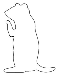 Prairie Dog pattern. Use the printable outline for crafts, creating stencils, scrapbooking, and more. Free PDF template to download and print at http://patternuniverse.com/download/prairie-dog-pattern/