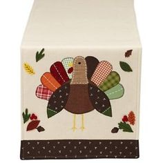 Thanksgiving-Fall-Decor-Primitive-Patchwork-Turkey-Table-Runner-64L-x-14W-in
