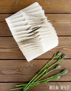 Muslin and Merlot: Folded Book Decor