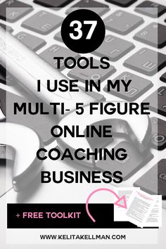 37 Tools I use in my multi 5 figure Coaching Business — Kelita Kellman. How to start career / life / financial / spiritual / health / wellness / business / entrepreneur / writing coaching. Work from home. Business Branding, Business Marketing, Business Tips, Business Coaching, Business Opportunities, Email Marketing, Business Software, Digital Marketing, Paypal Business