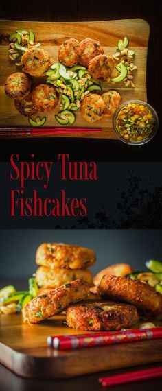 Low Carb Recipes To The Prism Weight Reduction Program Spicy Tuna Fishcake With Cucumber Salad Recipe: Canned Tuna Forms The Foundation Of These Spicy Tuna Fishcake Leaning Heavily On The Flavors Of Thailand And They Make A Perfect Light Meal Or Snack. Tuna Fish Cakes, Tuna Fish Recipes, Asian Recipes, Healthy Recipes, Healthy Food, Recipes With Canned Tuna, Halal Recipes, Healthy Dinners, Healthy Chicken