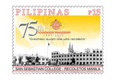 COLLECTORZPEDIA San Sebastian College - Recoletos Manila: 75th Anniversary Manila, Philippines, Stamps, Foundation, Anniversary, College, Seals, University