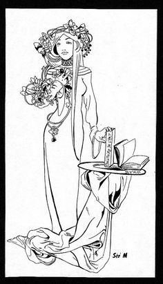 Cool Alphonse Mucha Coloring Pages