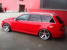 #Audi A4 Avant #Modified #Custom Vossen Rims #Slammed #Stance