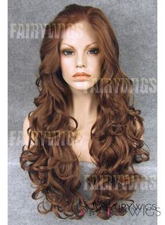 Lovely Long Brown Female Wavy Lace Front Hair Wig 22 Inch : fairywigs.com