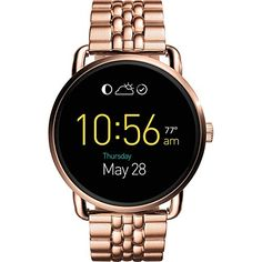 Fossil Q Q Wander Touchscreen Smartwatch - Women Wrist Watch on YOOX. The best online selection of Wrist Watches Fossil Q. Fossil Watches, Cool Watches, Stylish Watches, Casual Watches, Women's Watches, Luxury Watches, Fossil Jewelry, Jewelry Watches, Jewelry Box