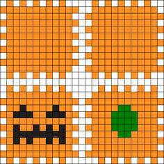 3d Pumpkin Perler Bead Pattern / Bead Sprite