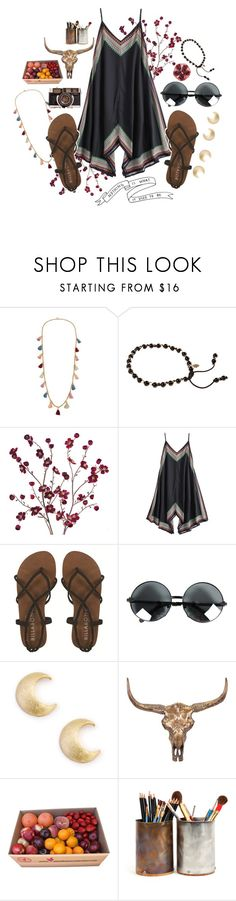 """""""MESS WITH THE BULL"""" by ftrees ❤ liked on Polyvore featuring Ben-Amun, Monsoon, Cost Plus World Market, Billabong, Sole Society and Universal Lighting and Decor"""