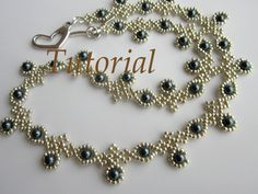 Blueberry Necklace https://www.etsy.com/listing/177990371/pdf-beaded-necklace-with-swarovsky-pearl?