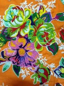 CAFÔFU - ATELIÊ DE ARTE: TENDENCIA - BORDADO EM CHITA Bordados Tambour, Tambour Embroidery, Hand Embroidery Patterns, Textile Patterns, Textile Art, Embroidery Stitches, Beadwork Designs, Thread Painting, Book Crafts