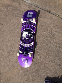So this is my skateboard!! It's so fun. I can't do a lot of tricks but I can acid drop and Ollie