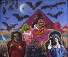 Nosferatu by Clovis Trouille