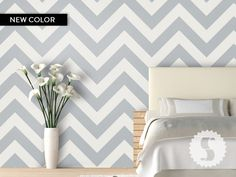 ZigZag Removable wallpaper panels  Rental Therapy!!!
