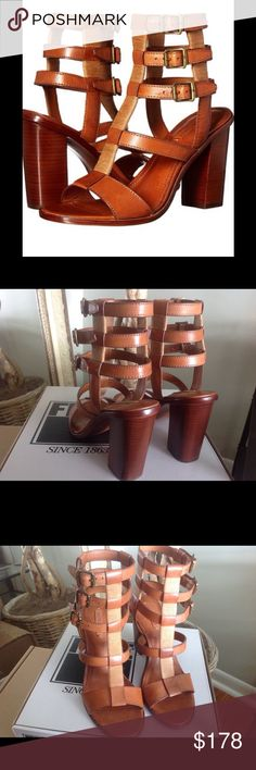 Frye Gladiator Heeled Sandal Frye Suzie Cognac Leather Gladiator Sandal.  Brand new w/box.  No trades. Frye Shoes Heels