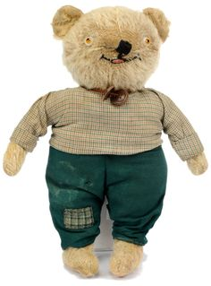 Chiltern Master Teddy c1915. Thought to be the first design of bear produced by Chiltern (British).