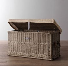 Bryce Wicker Trunk | Benches & Trunks | Restoration Hardware Baby & Child