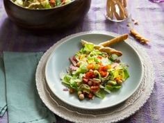 Chopped Salad with Roasted Vegetables : Recipes : Cooking Channel
