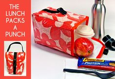 Sew your own insulated lunch tote! Free pattern & Tutorial!