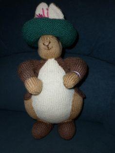 Benjamin Bunny is designed by Alan Dart by Marionsknittedtoys, $35.00