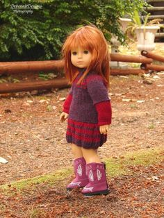 (6) Name: 'Knitting : Fallberry for 18' American girl dolls