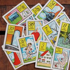 Old Gypsy Tarot Cards 7pk (Boston Bag Lady) now featured on Fab.