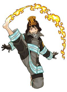 Fire Force Enen no Shouboutai Shinra Kusakabe Battle Suit Cosplay Costume Character Model Sheet, Character Drawing, Character Design, Fanarts Anime, Manga Anime, Anime Art, Fire Brigade Of Flames, Alita Battle Angel Manga, Shinra Kusakabe