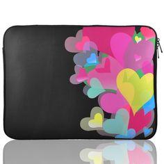 15 15.4 15.6 Heart Print Neoprene Notebook Laptop Sleeve Bag for HP Pavilion