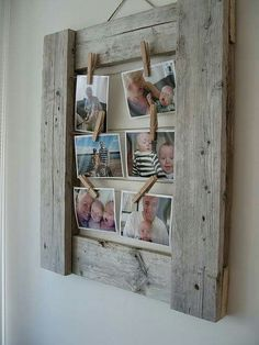 Cute way to hang loose pictures