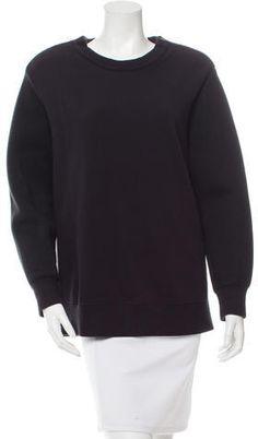 Givenchy Crew Neck Sweatshirt Off Black, Hoodies, Sweatshirts, Givenchy, Crew Neck Sweatshirt, Zip, Stylish, Shoulder, Sweaters