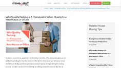 Why Quality Packing is A Prerequisite When Moving to a New House or Office - Moving to a new house, apartment or relocating to another . Moving House Checklist, Office Moving, Moving Tips, New Homes, Packing, Bag Packaging, Moving House Tips